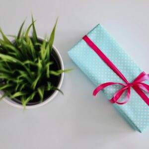 Gift on a table