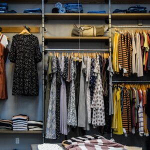 Clothes in a shop