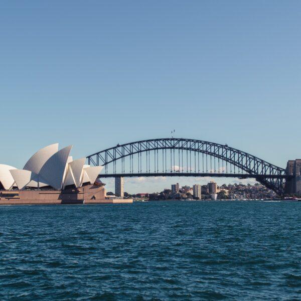 Sydney Opera House and the Harbour Bridge