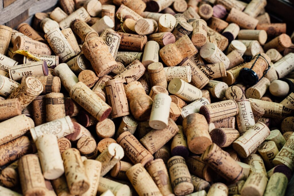 Bucket of corks
