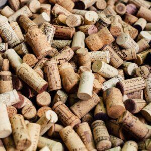 Bucket of corks