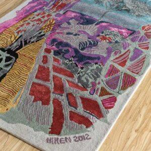 Colourful floor rug