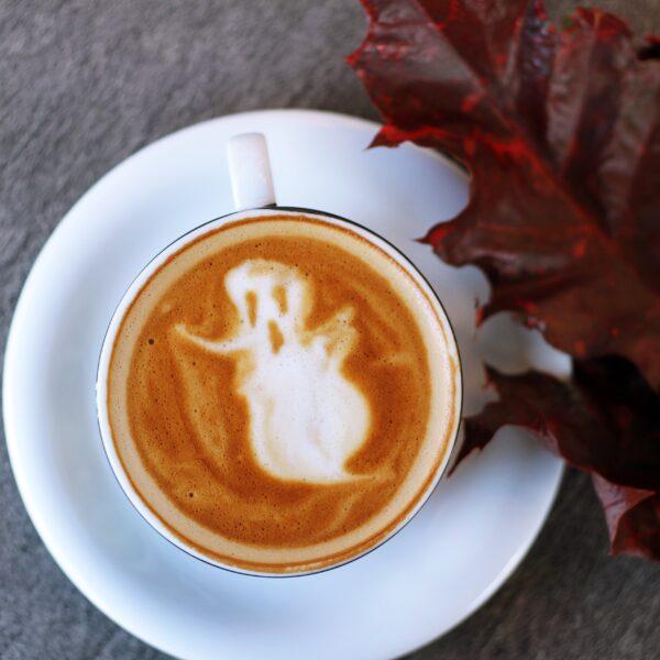 Ghost latte art