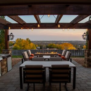 Patio at golden hour