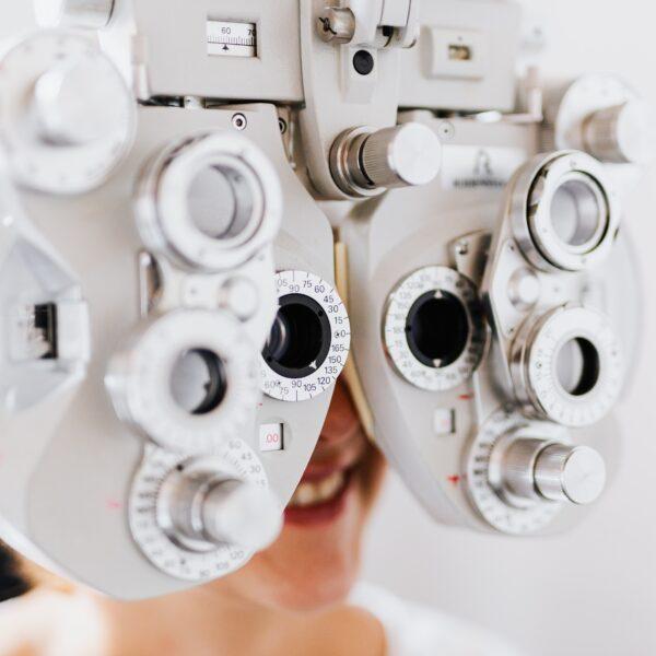 Person having an eye test
