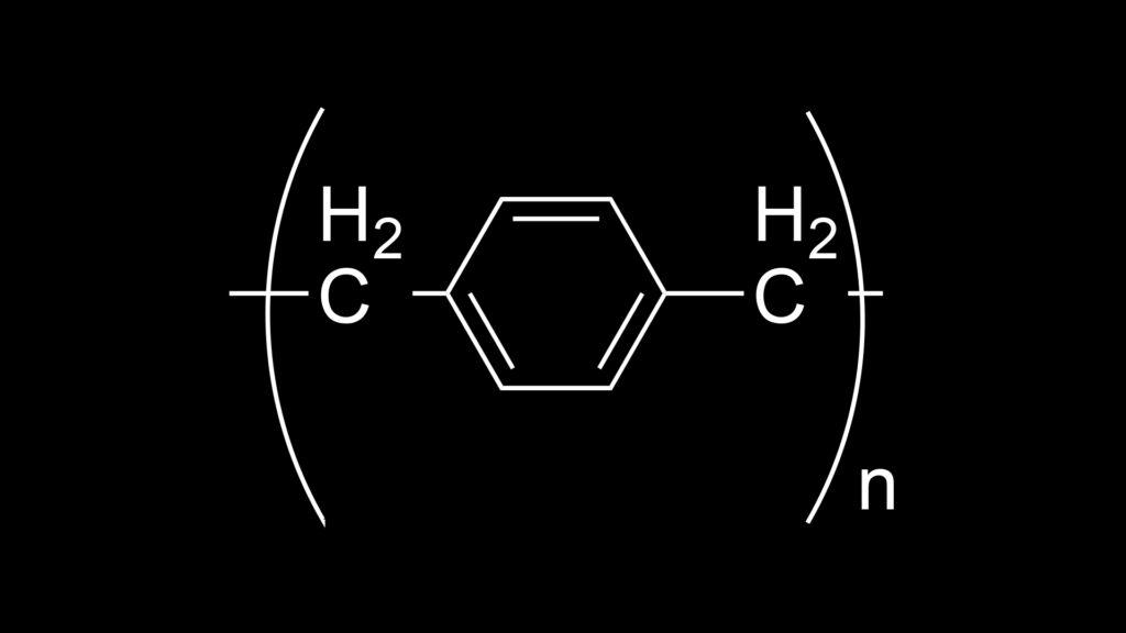 Structure of Parylene N repeat unit