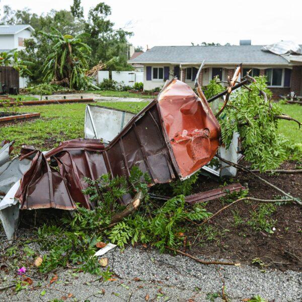 Tornado damage in Orlando, Florida