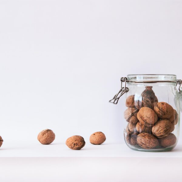 Nuts in a jar