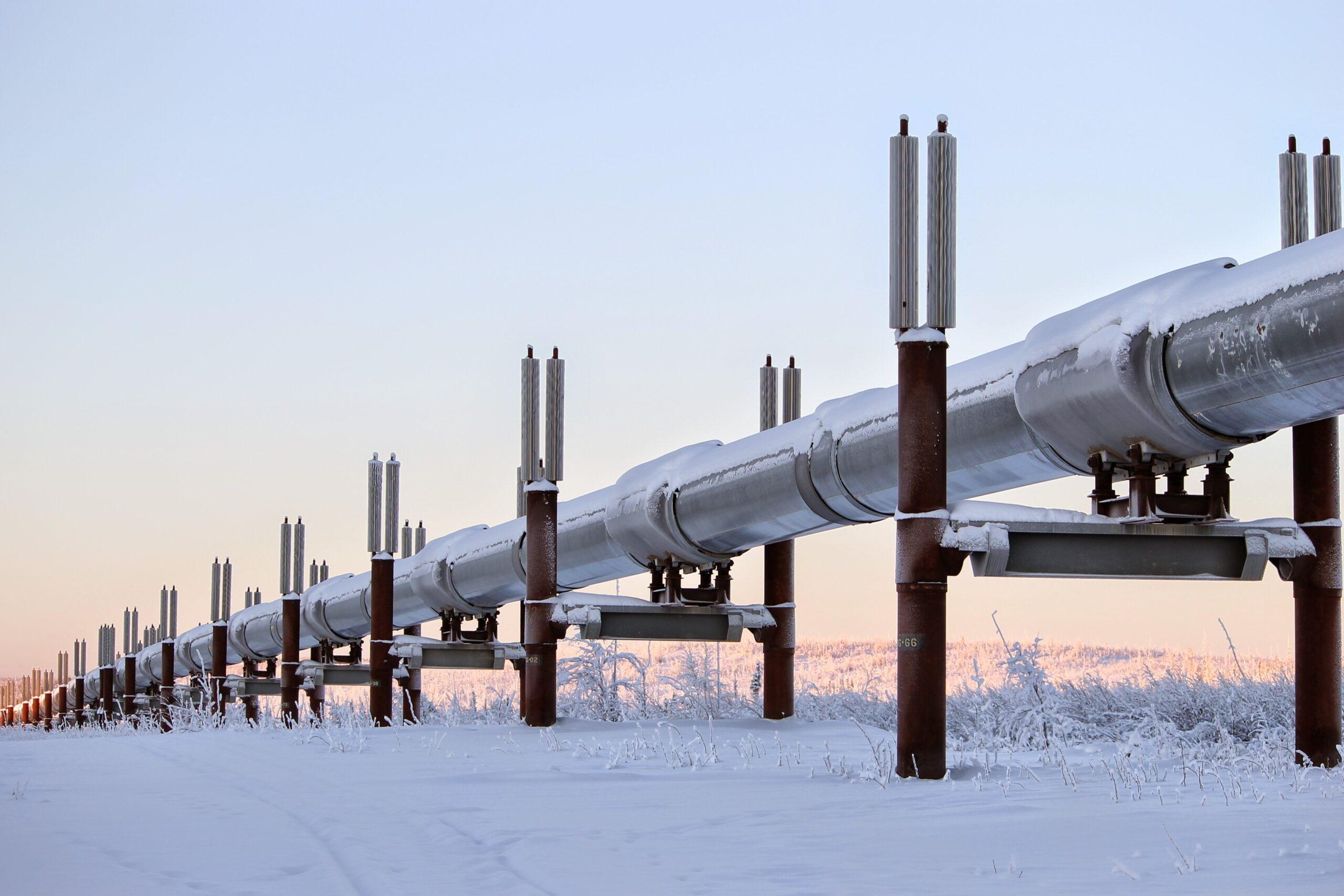 Pipeline in snow