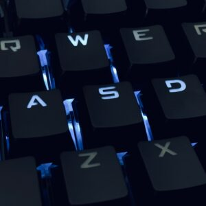 WASD buttons on a computer keyboard