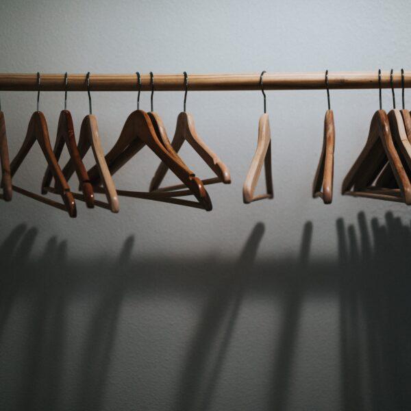 Hangers on a rail