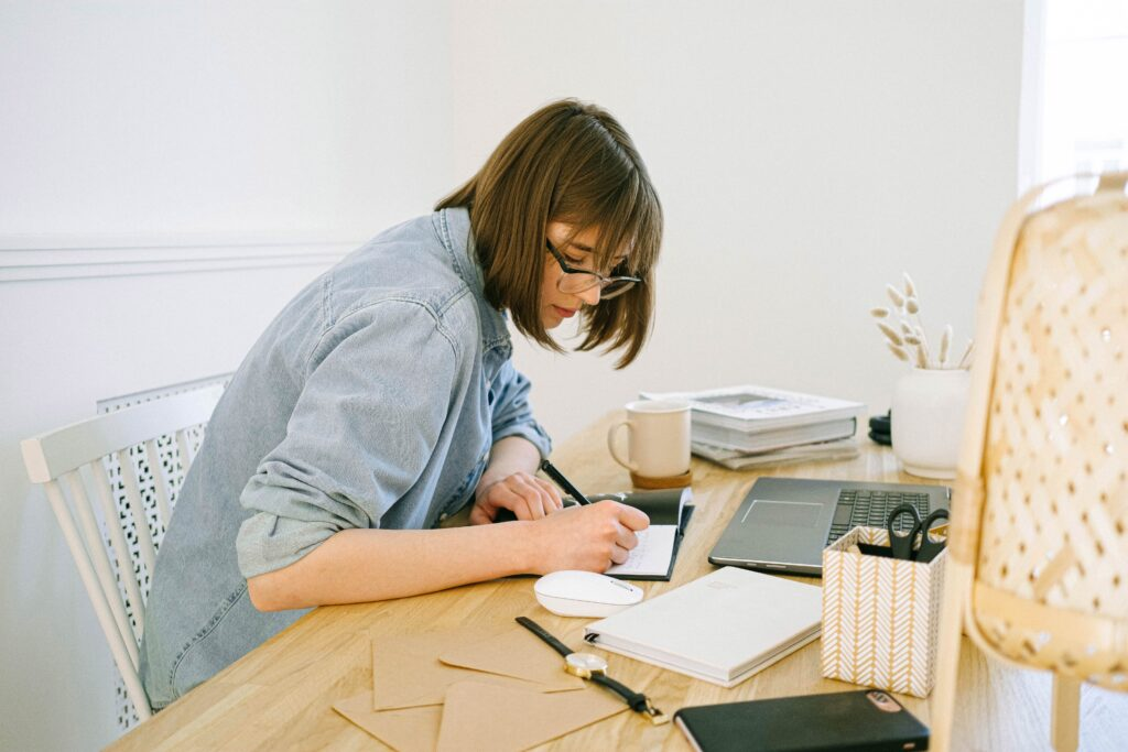 Person working from home