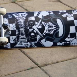 Speed Demons complete skateboard, Kustom Parko shoe