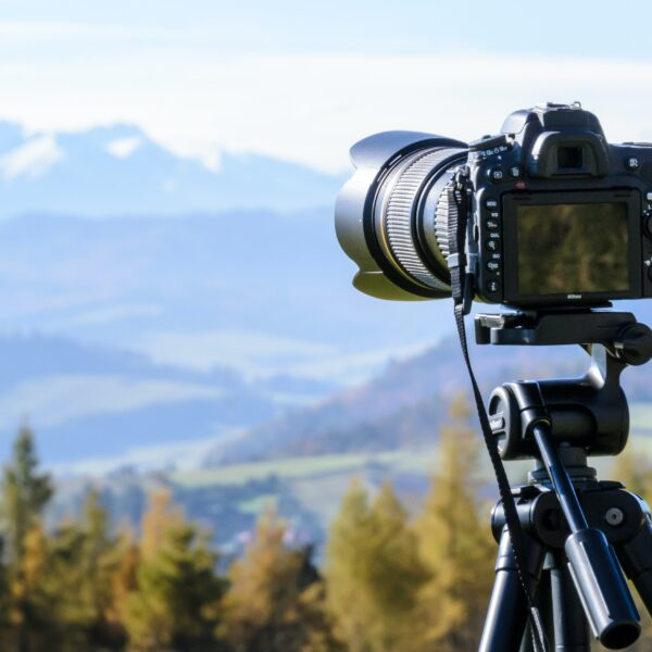 Camera photographing the scenery