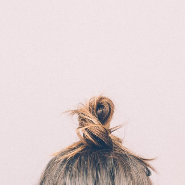 Woman's hair in a bun