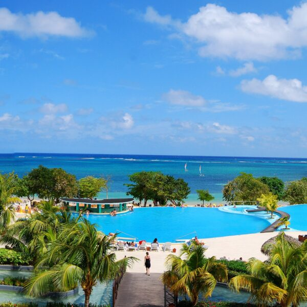 View of the Caribbean Sea from the Iberostar Hotel and Resort