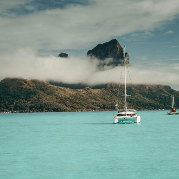 Boats in Bora Bora, French Polynesia