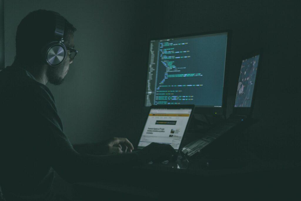 Man using laptops