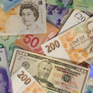 Bank notes from different countries