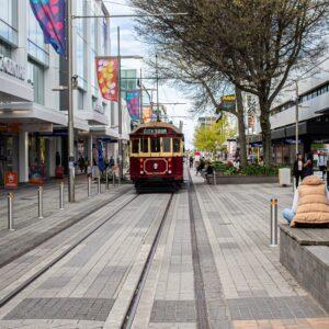 Tram in Christchurch, New Zealand