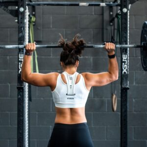 Woman doing weightlifting