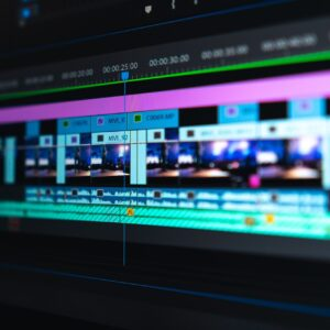 Video editing timeline in Premiere Pro