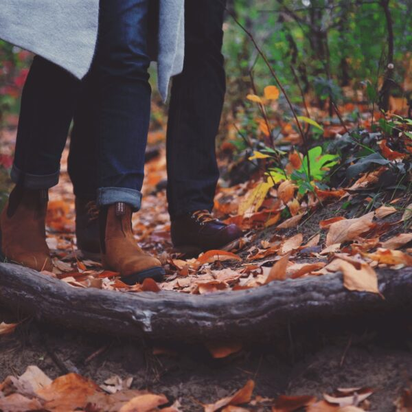 Two people on a nature walk