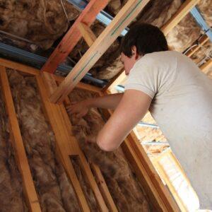 Wool insulation installation