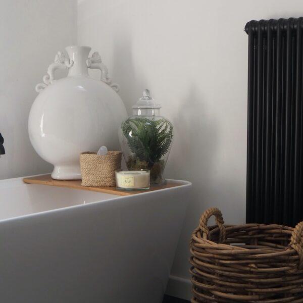 Black bathroom radiators